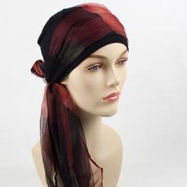Mix Création 1 Bonnet Noir + 2 Foulards chimio