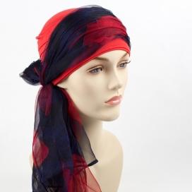 Mix Création 1 Bonnet Rouge + 2 Foulards chimio