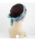 Mix Création 1 bonnet Chocolat + 2 Foulards chimio