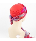 Mix Création 1 Bonnet Rouge + 2 Foulards chimio