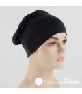 Bonnet de nuit noir - Amoena