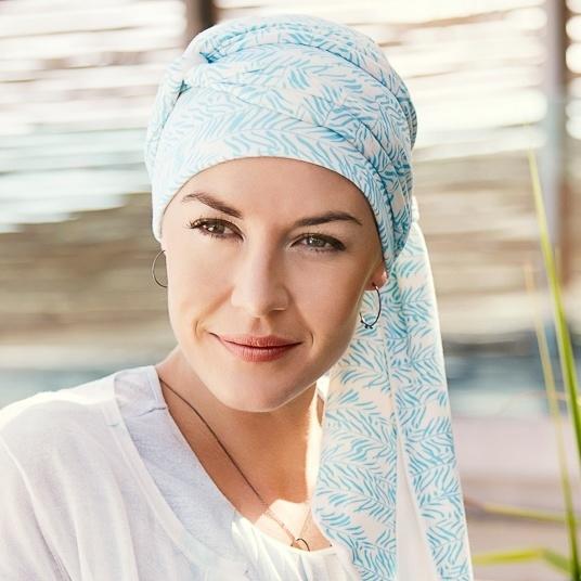 turban chimio bambou bleu accessoire femme cancer. Black Bedroom Furniture Sets. Home Design Ideas