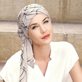 Turban chimio long bambou - Amaretto
