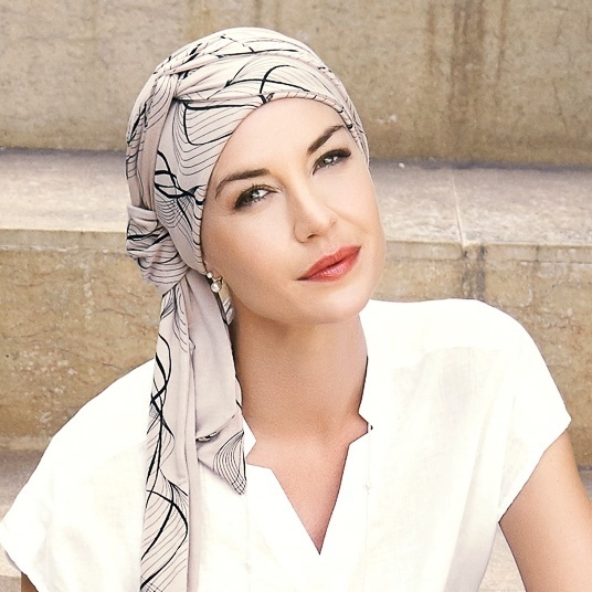 turban chimio bambou beige accessoire femme cancer. Black Bedroom Furniture Sets. Home Design Ideas