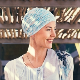 Bonnet + bandeau bambou - Aigue marine