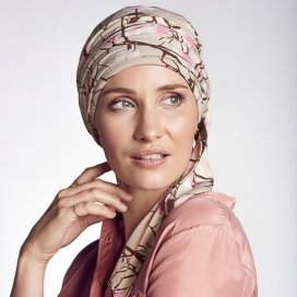 Turban chimio long bambou Beige - Akina