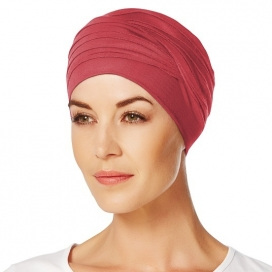 Bonnet chimio bambou - Hindi - Coquelicot