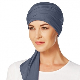 Turban chimio long bambou - Bleu ardoise