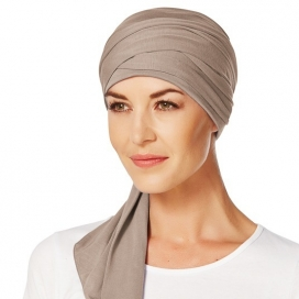 Turban chimio long bambou - Noisette