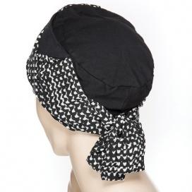 Bonnet Origami - noir et blanc
