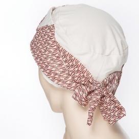 Bonnet Origami - beige et rose