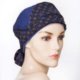 Bonnet Origami - bleu et pois