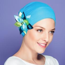 Bonnet Jardin d'été - Bleu