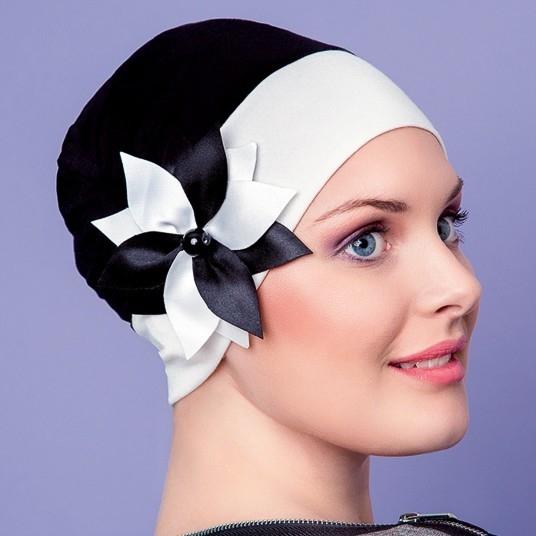 Bonnet chimio jardin d 39 t noir et blanc chapilie for Jardin noir et blanc
