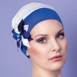 Bonnet Jardin d'été - Bleu azur