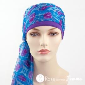 Mix Création 1 Bonnet Pourpre + 2 Foulards chimio