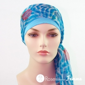 Mix Création 1 Bonnet fuschia + 2 Foulards chimio