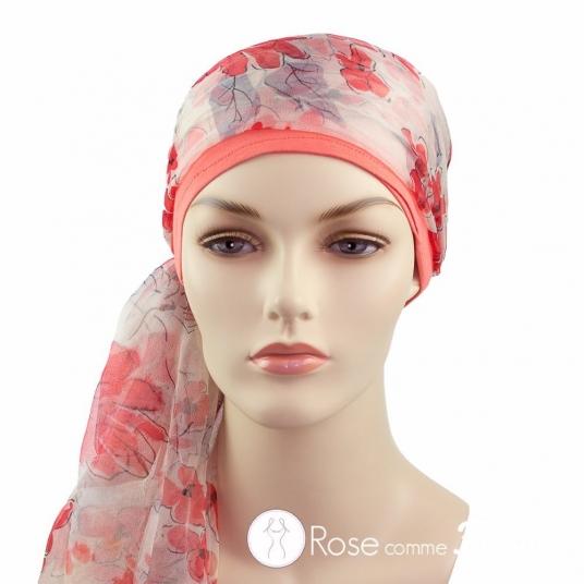 Mix Création 1 Bonnet Corail + 2 Foulards chimio