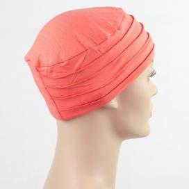 Bonnet chimio deluxe - Corail