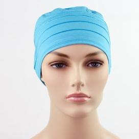 Bonnet chimio deluxe - Bleu
