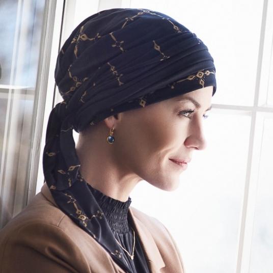 1b9ce5edced8 Christine Turban chimio, Bonnet chimio, cancer féminin