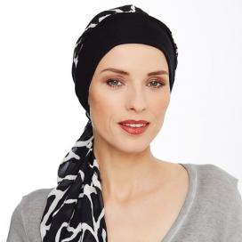 Bonnet foulard bambou - annabell noir