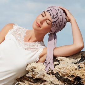Turban chimio long bambou - Orchidée