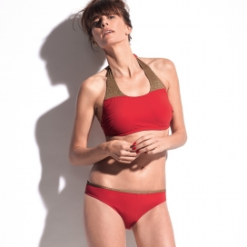 Maillot de bain - GAIA rouge & or