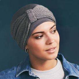 Bonnet chimio TWIN SET coton - Gris