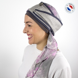 Turban long gris + Bonnet bambou - Street