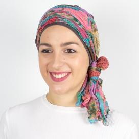 Tubran Bali Taupe - 1 Bonnet + 2 Foulards chimio