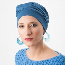 Bonnet chimio Bambou - Adèle Bleu