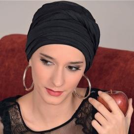 Bonnet chimio bambou DIANA - Noir