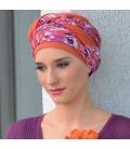 Bonnet chimio bambou NADIA - Orange