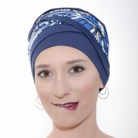 Bonnet chimio Bambou - Doris Bleu -