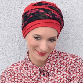 Bonnet chimio Bambou - Doris Rouge -