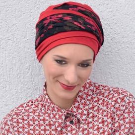 Bonnet chimio Bambou - Doris Rouge -