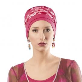 Bonnet chimio Bambou - Doris Framboise -