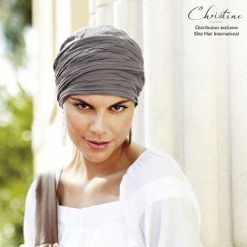 Turban chimio long - Taupe - Christine