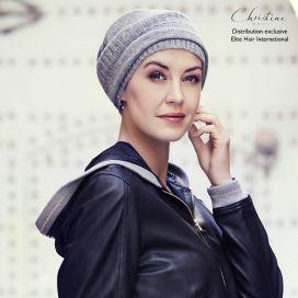 Bonnet chimio Cachemire - Silver