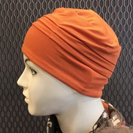 Bonnet de nuit chimio Bambou Orange Brique