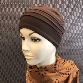 Bonnet de nuit chimio Bambou chocolat