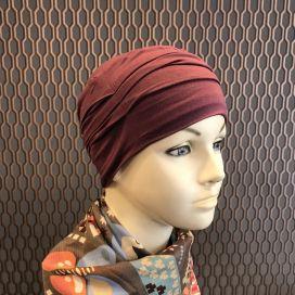 Bonnet de nuit chimio Bambou prune