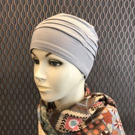 Bonnet de nuit chimio Bambou gris