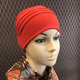 Bonnet de nuit chimio Bambou rouge