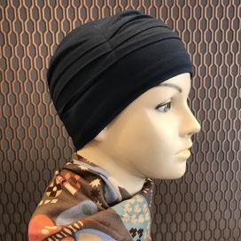 Bonnet de nuit chimio Bambou bleu marine