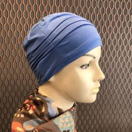 Bonnet de nuit chimio Bambou bleu azur
