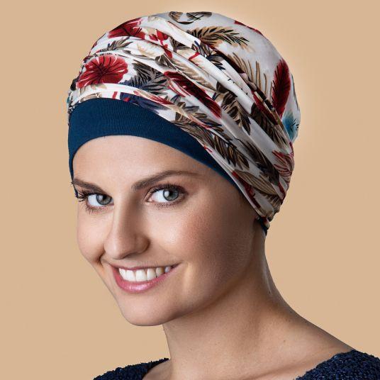 Bonnet Kenaya Bleu Cannard Imprimé Plume
