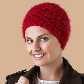 Bonnet Chimio Angora Rouge