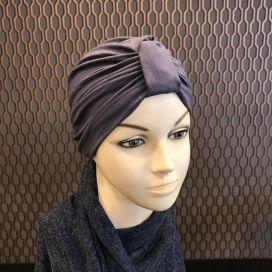Bonnet Lycra Coton - bonnet Bleu Gris